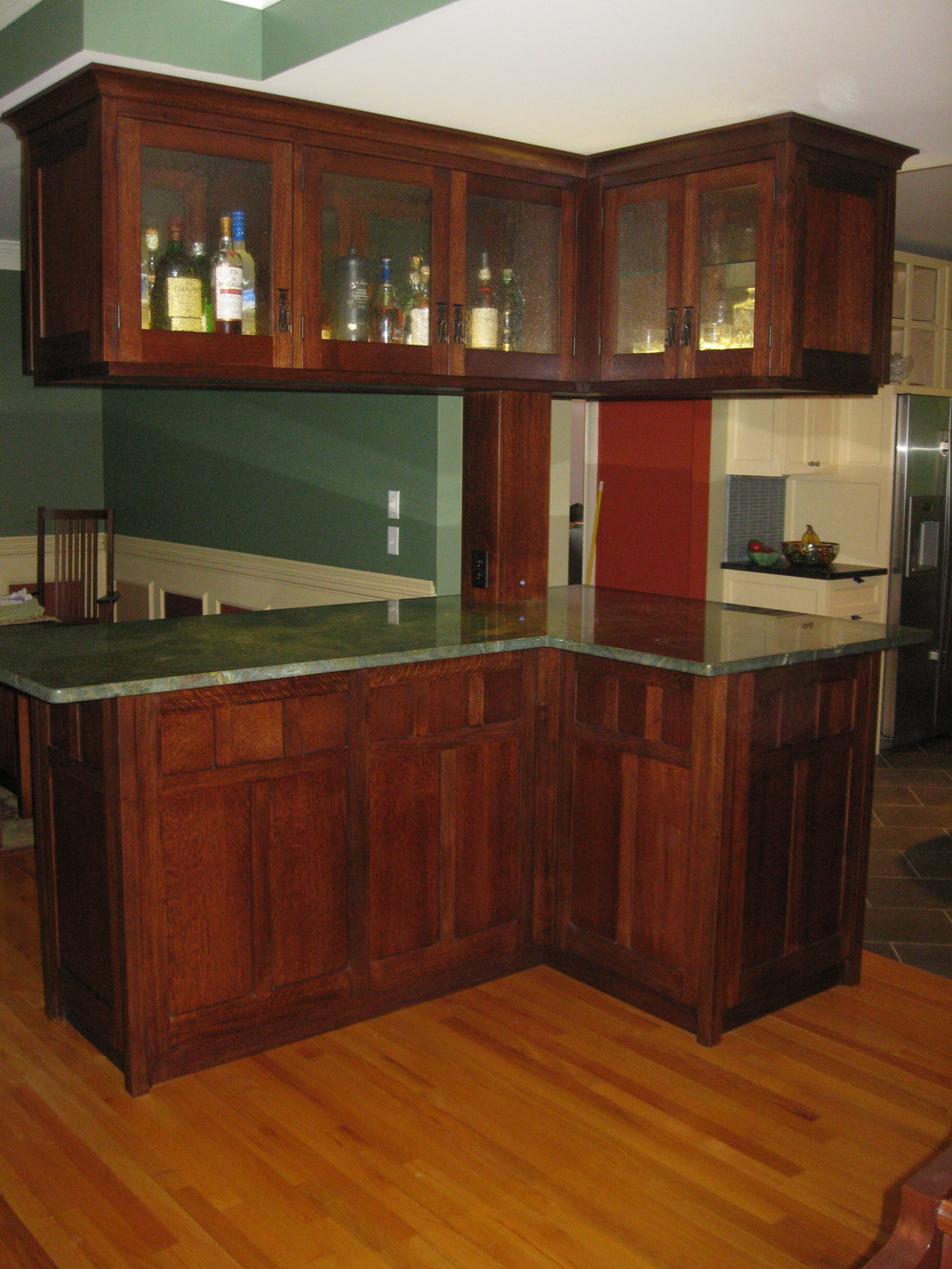 Stained White Oak Scotch Bar
