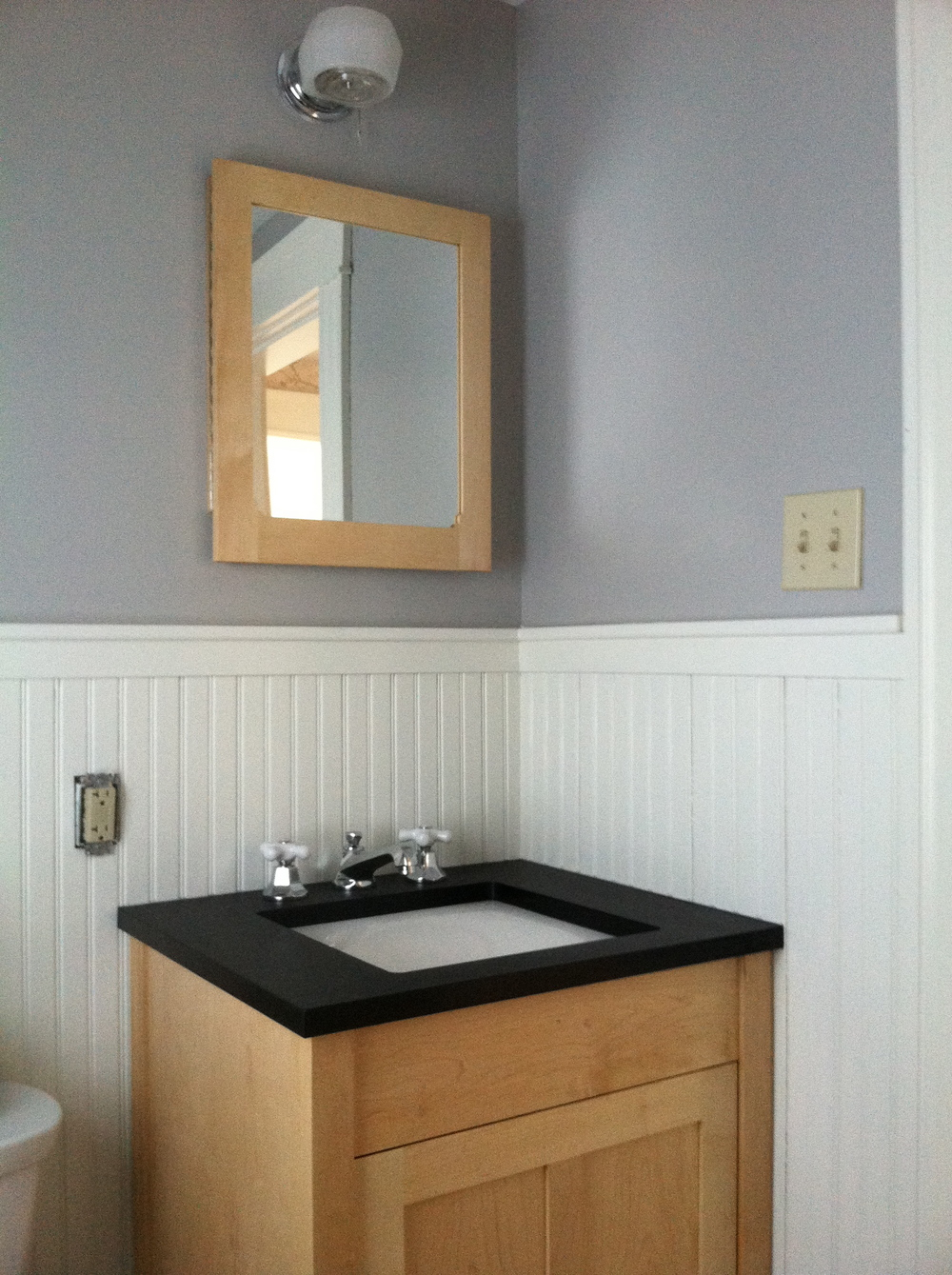 Bathroom Vanity and Medicine Cabinet