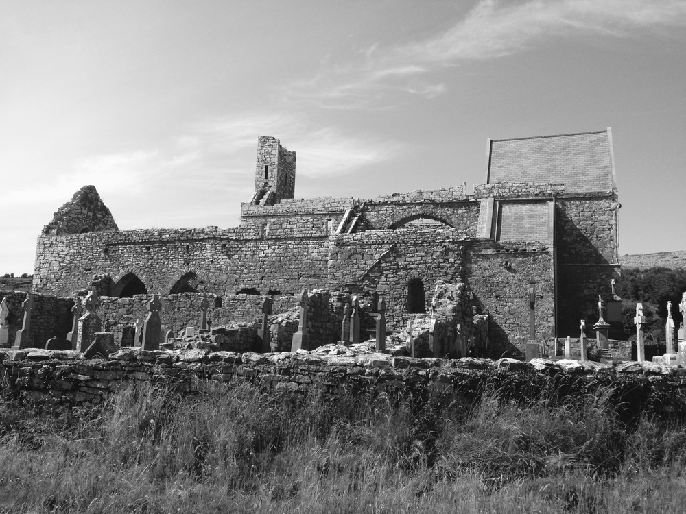 Corcomroe Abbey, where John would lead a dawn Easter Mass, The Burren in County Clare