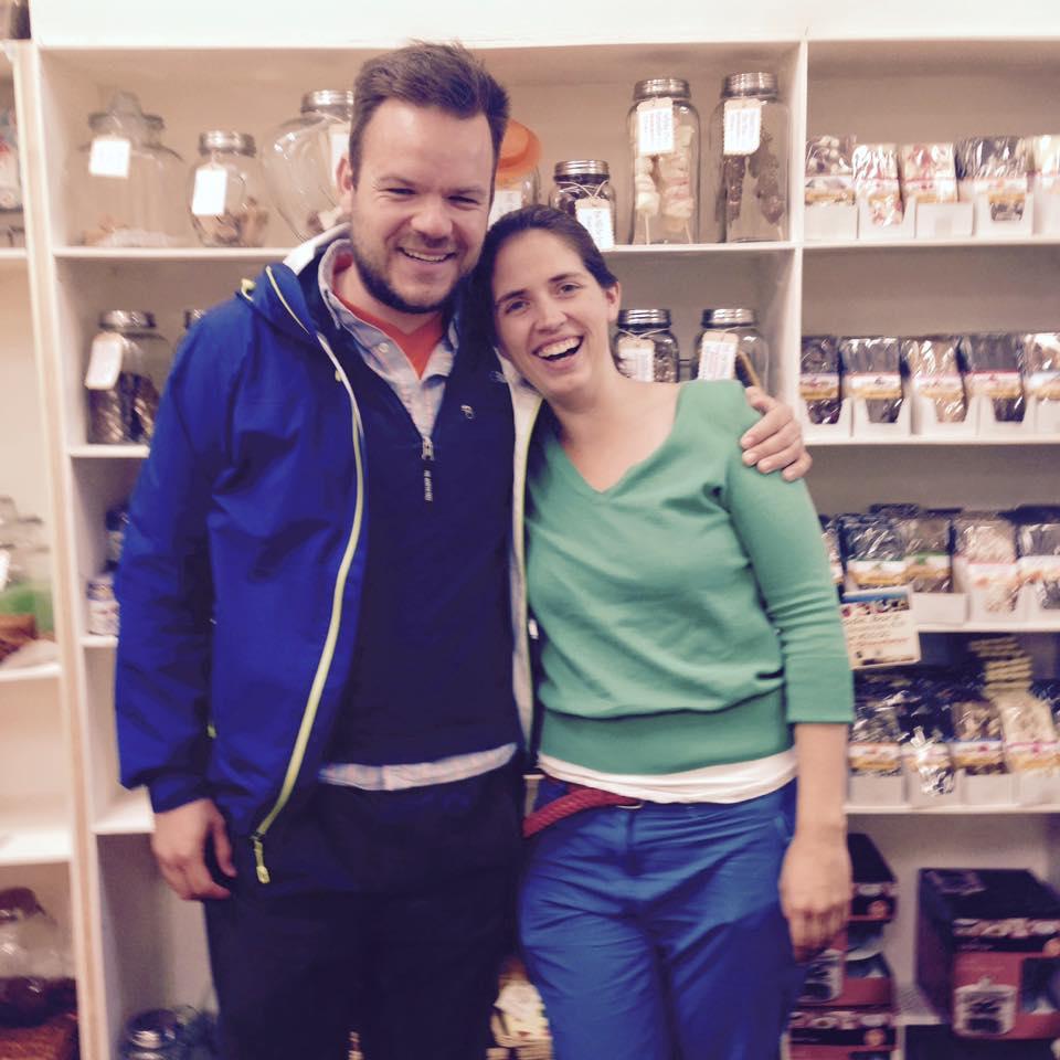 Caroline and I enjoying the chocolatiers of County Clare