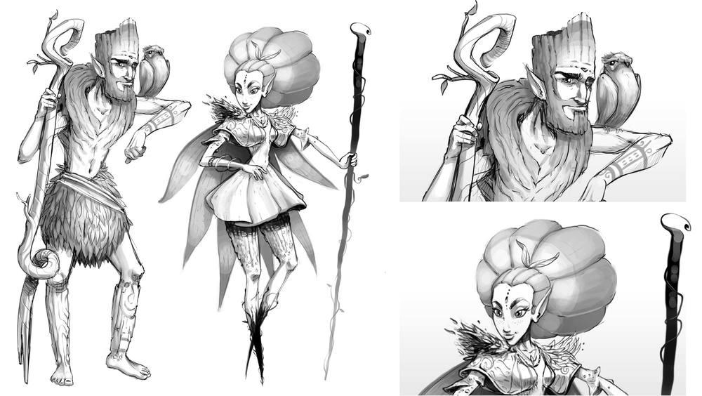 Druid Character Design Illustration