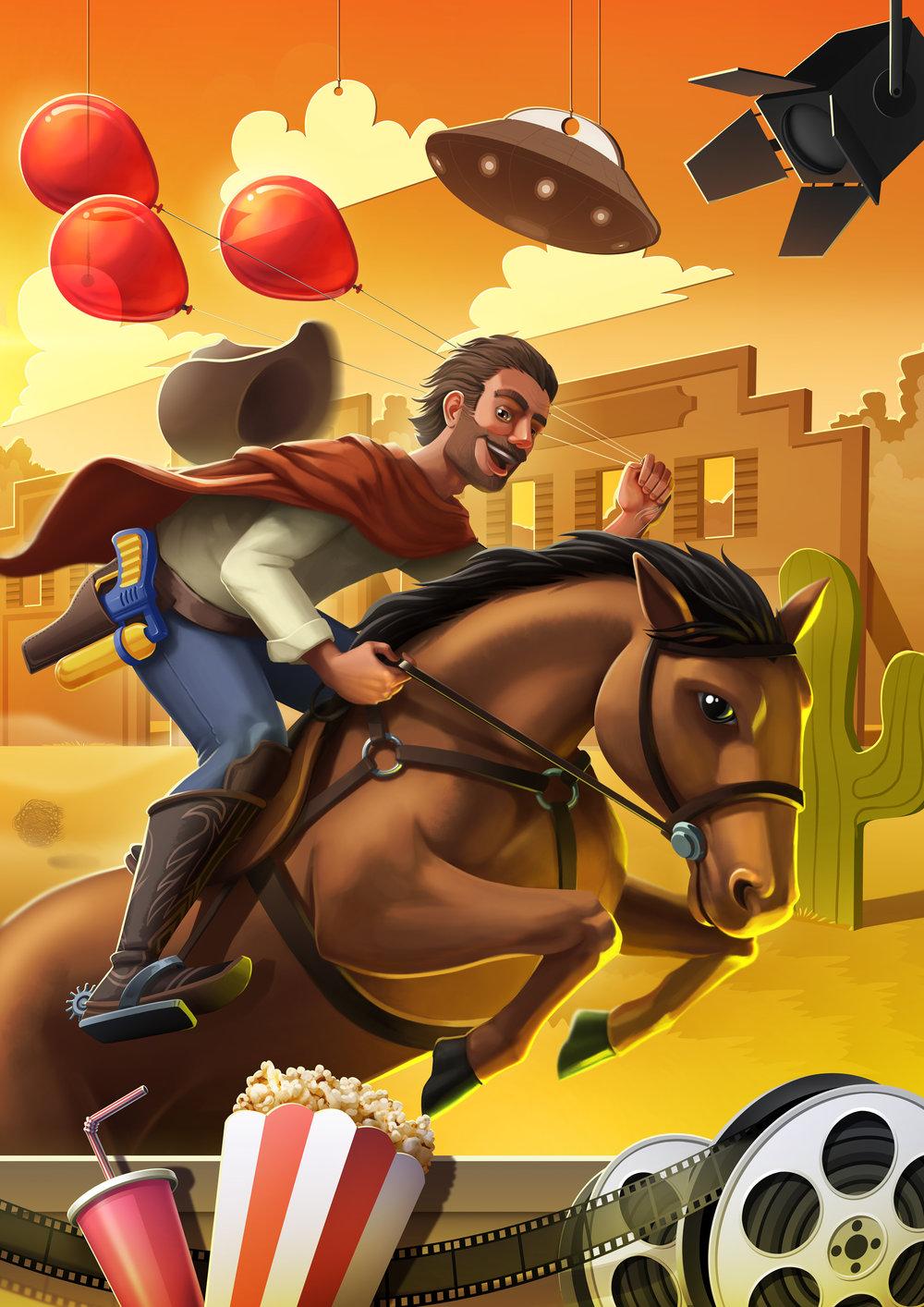 Splash Art Image Illustration Poster Character Design Western