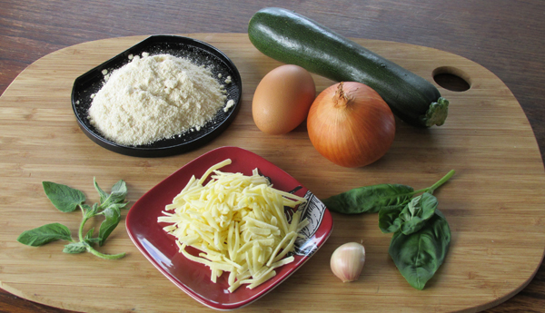 Courgette pizza crust ingredients