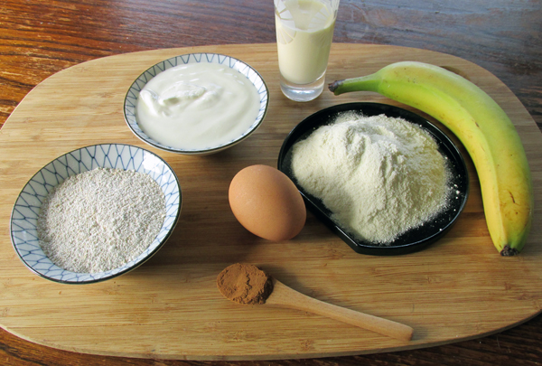 Cinnamon Swirl Pancake Ingredients