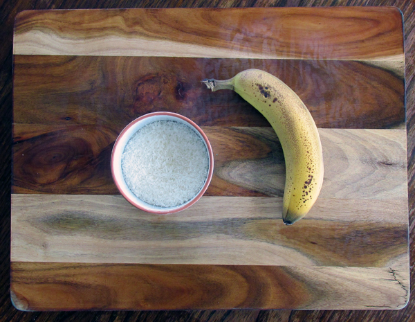 Banana and Coconut Cookie Ingredients