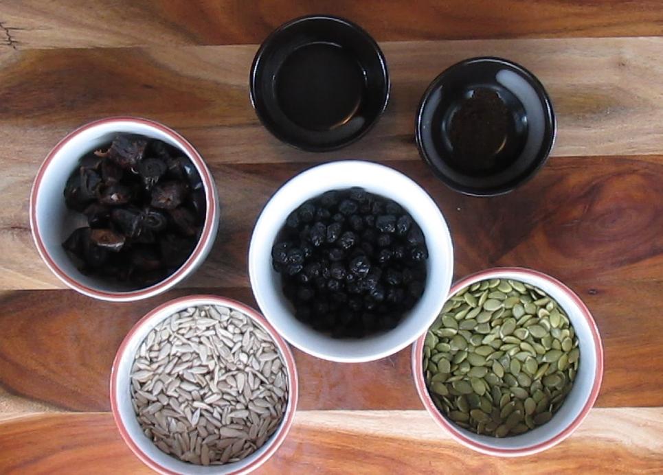 Blueberry Muffin Balls Ingredients