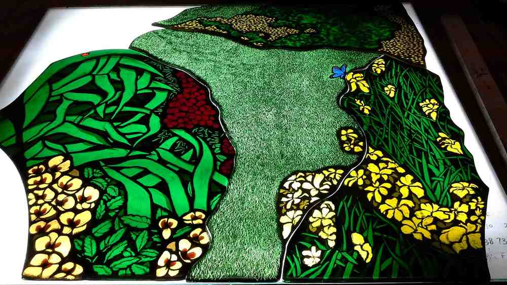 Custom Stained Glass Memorial Window Construction
