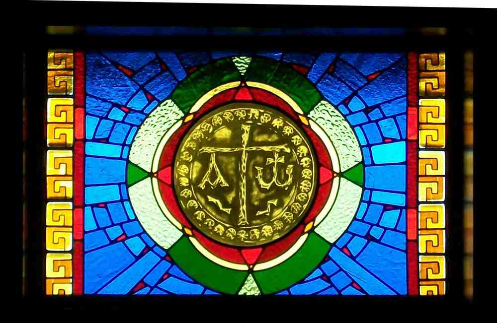 Custom Stained Glass window made for Criss Angel