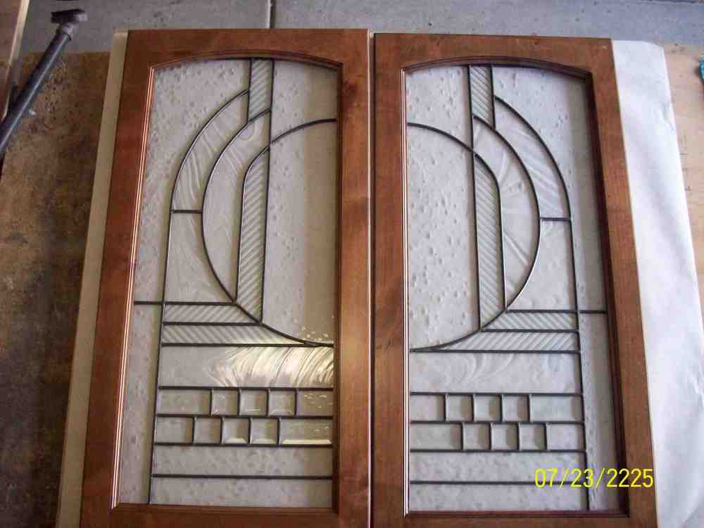 Custom Stained Glass with Wood Frame