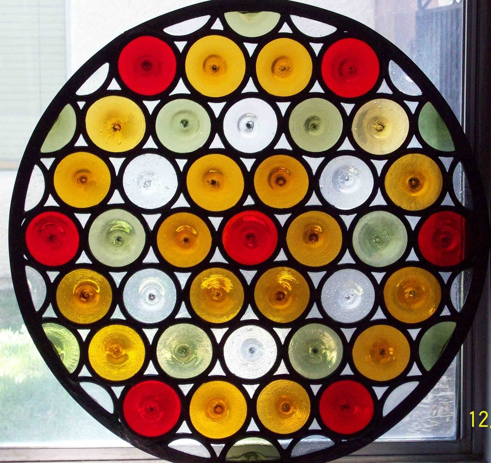 Custom Circle Stained Glass Window
