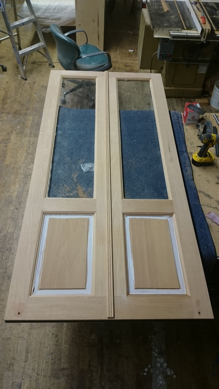Faux French Storm Doors Joint Then Plane