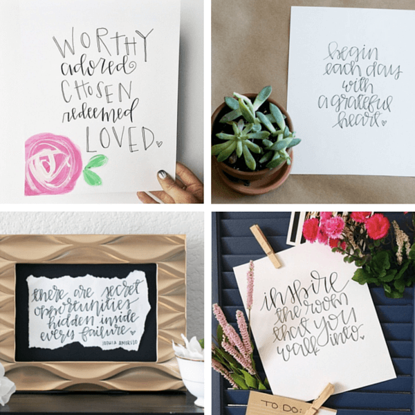 Gorgeous hand-lettered quotes from Karla Storey...