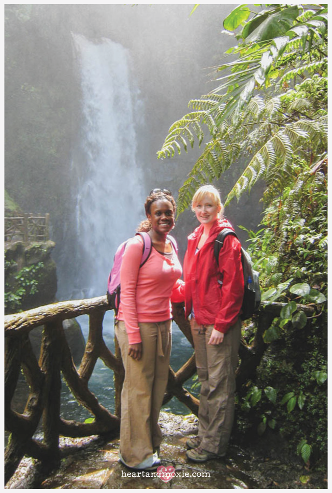 My friend Kendra & I at the La Paz Waterfall Gardens in Costa Rica