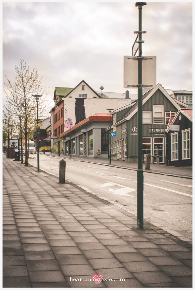 One of the many charming streets in Reykjavik