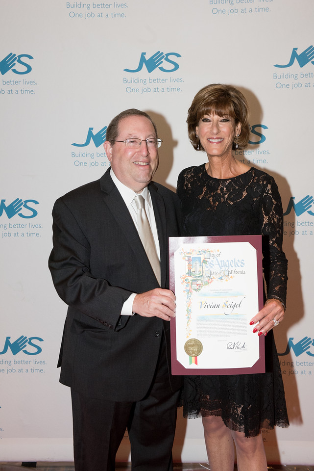JVSLA CEO Emerita, Vivian Seigel with L.A. City Councilmember Paul Koretz