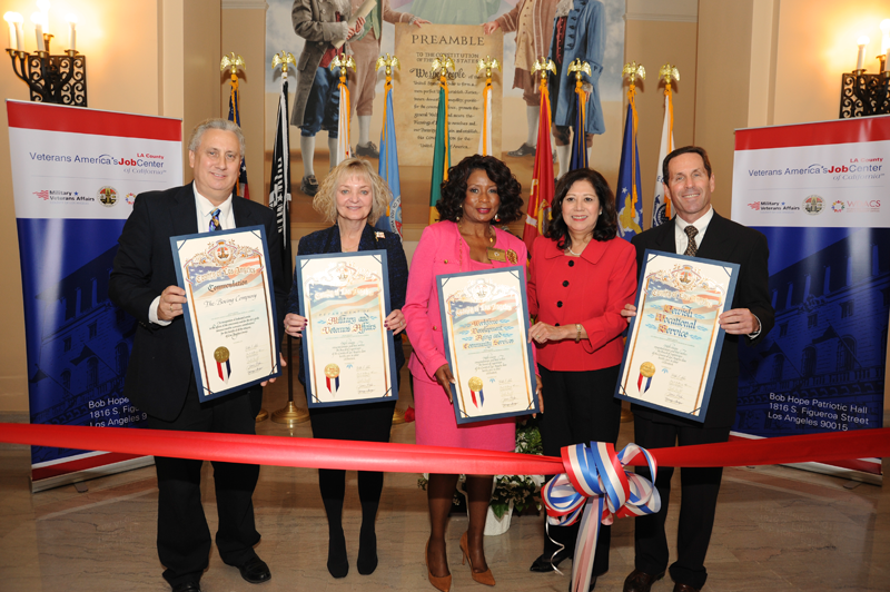 Grand Opening of LA County Veterans America's Job Center at Patriotic Hall