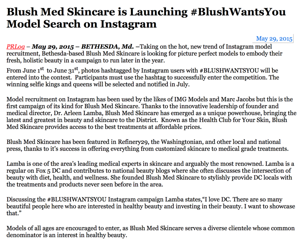 blushmed-press release