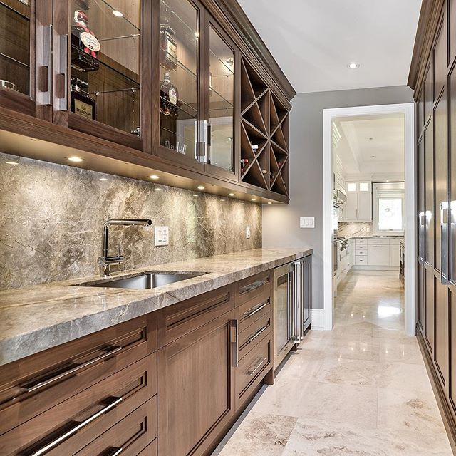 #Pantry / #Servery / #Wetbar goals...🍾 . Material: Fior di Bosco (marble) . . . .  #countertop #kitchen #kitchencountertop #vanity #washroom #bathroom #commercial #residential #bars #fireplace #fireplacesurround #tubdeck #marble #granite #quartz #quartzite #design #interiordesign #cabinet #home #luxury