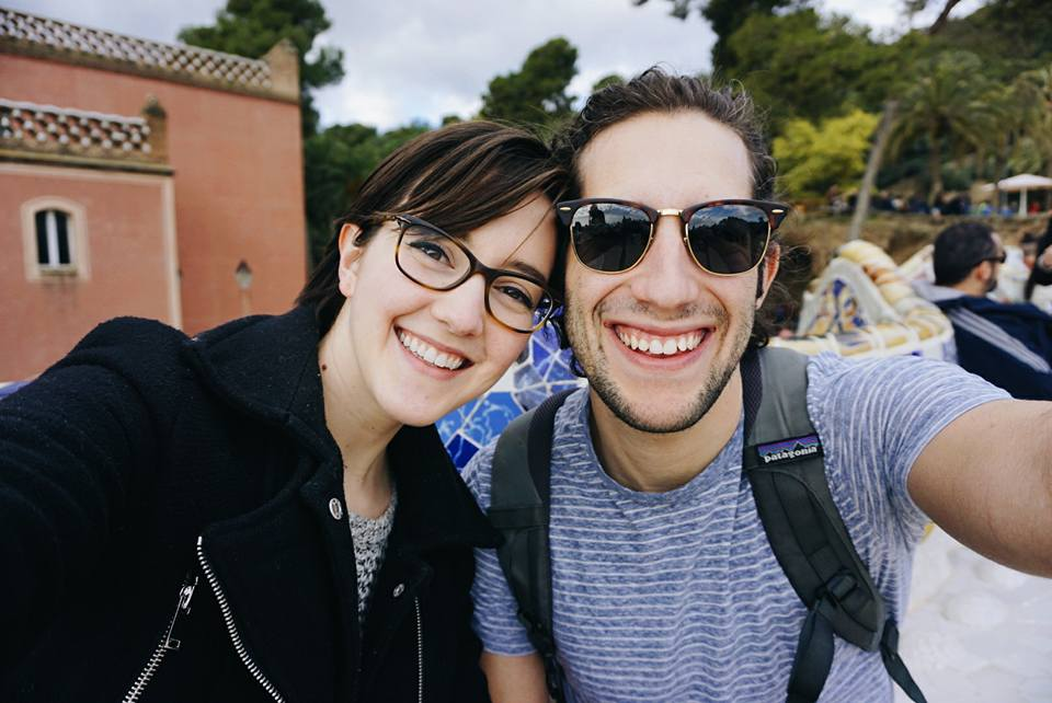 Two happy (and cool) cats at Park Guell, during our trip to Barcelona in February.