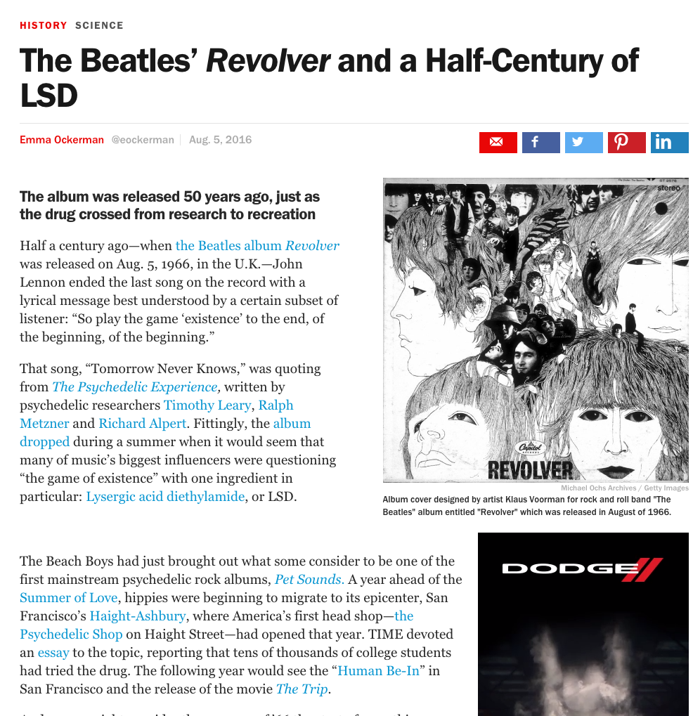 The Beatles' Revolver and a Half-Century of LSD