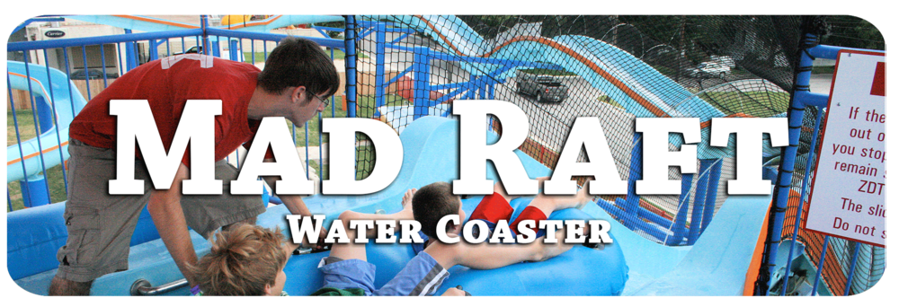 An extreme water slide that goes both uphill and downhill! It's a water COASTER!