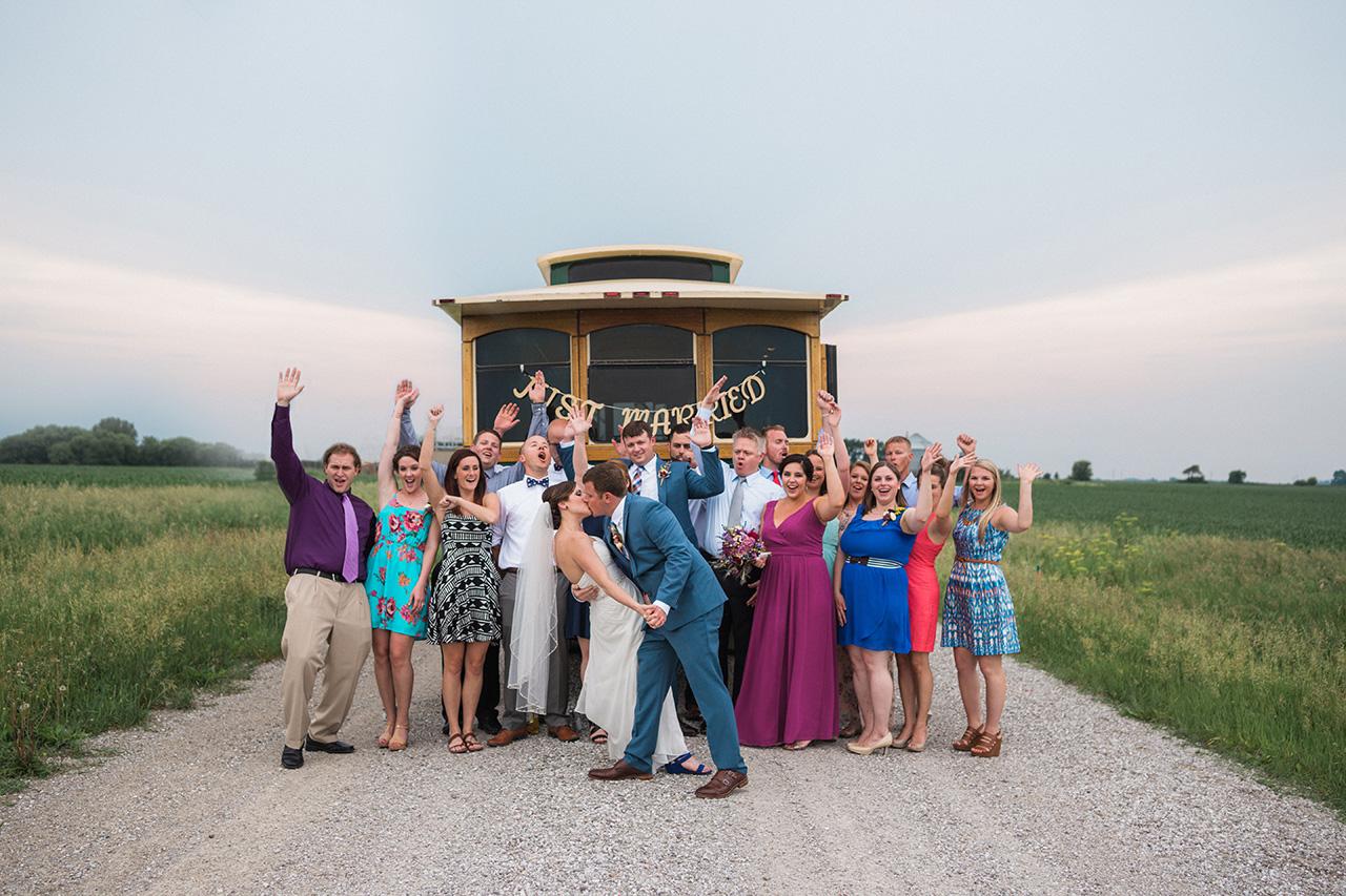 Diamond Oak Event Wedding Reception Trolley