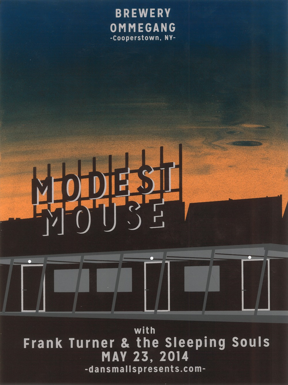 Modest Mouse  5c. Screen Print  Designed & Printed by Kaleb Hunkele