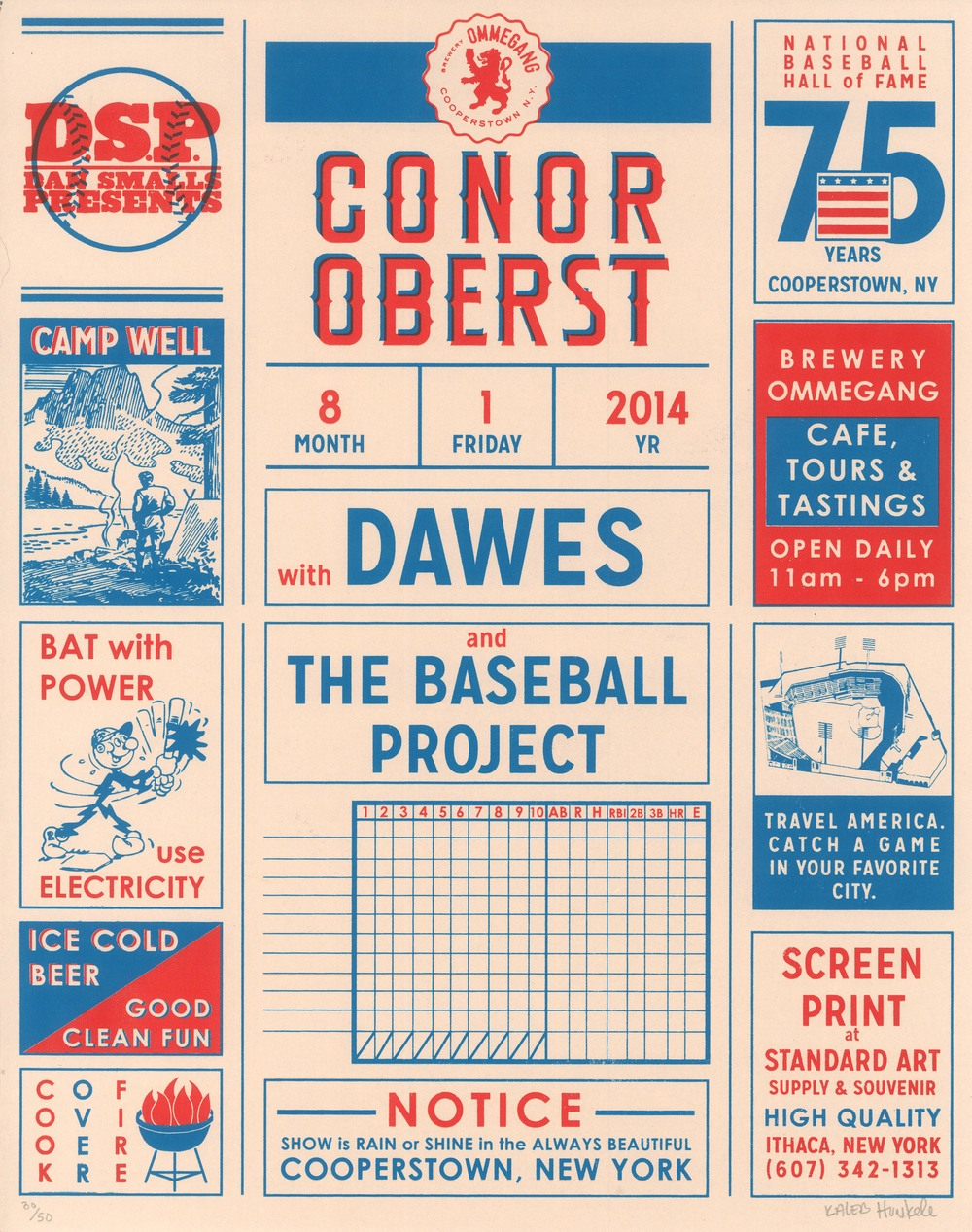 Conor Oberst  2c. Screen Print  Designed & Printed by Kaleb Hunkele