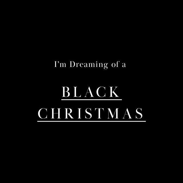 What about you? Black or White Christmas? . . . . . . #blackchristmas #blackandwhitechristmas #monochromechristmas #luxechristmas