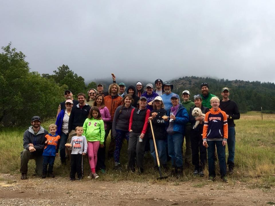 Volunteers building the new Carhart Trail in the Pueblo Mountain Park