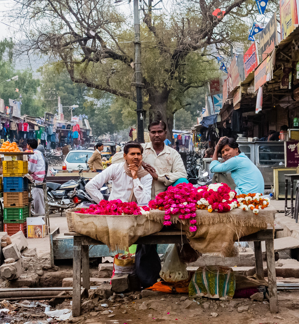Flower Sellers, Bundi Market