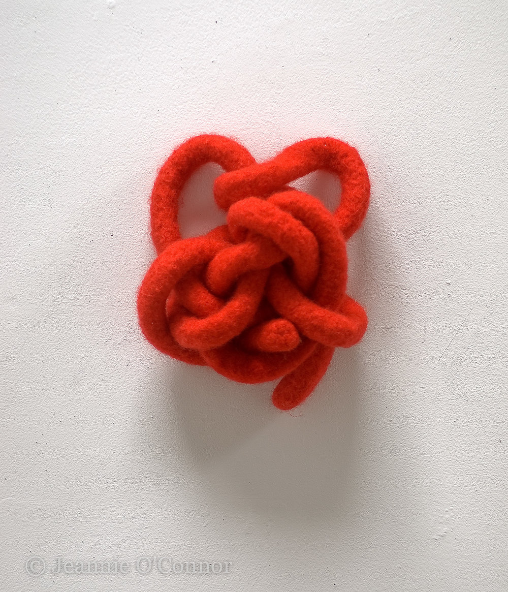""""""" Knotted Heart I-Cord """""""