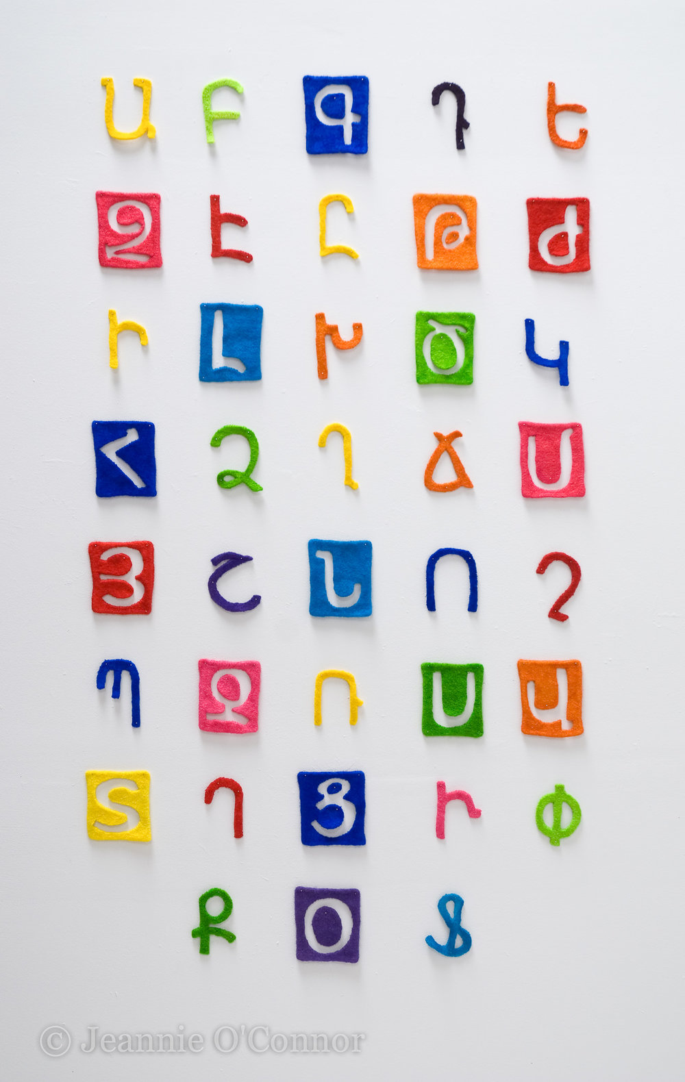 """ The Armenian Alphabet (felted)"