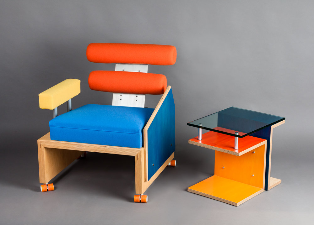 Modern Chair and Table