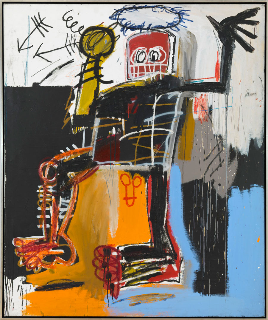 JEAN-MICHEL BASQUIAT Untitled, 1981 Acrylic, oil stick and pencil on canvas 72 x 60 inches(182.9 x 152.4 cm) © The Estate of Jean-Michel Basquiat/ADAGP, Paris, ARS, New York 2013