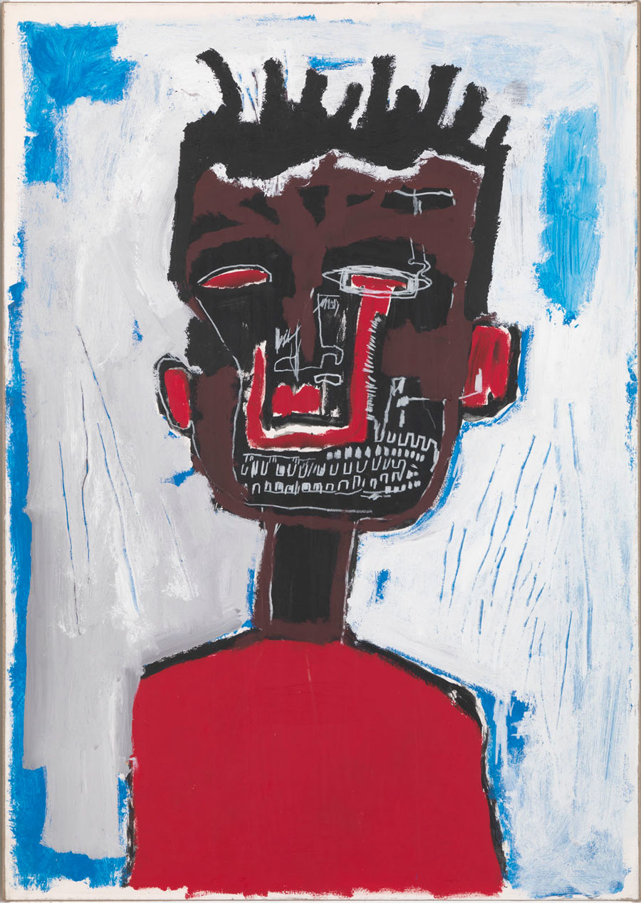 ean-Michel Basquiat, Self Portrait, 1984, acrylic and ilstick on paper mounted on canvas, 38 7/8 × 28 inches(98.7 × 71.1 cm) © The Estate of Jean-Michel Basquiat/ADAGP, Paris, ARS, New York 2013