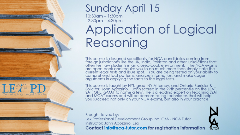 Application of Logical Reasoning - NCA Exams