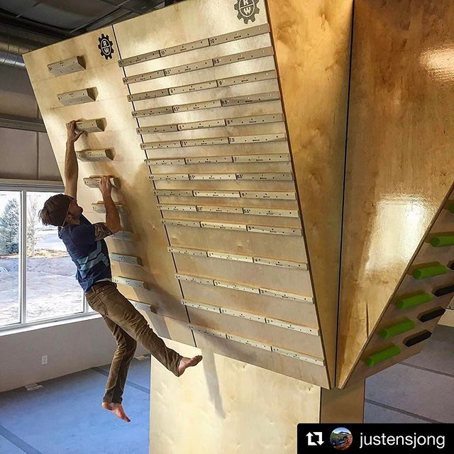 Super big shoutout and thanks to @paulrobinson87, @justensjong, and @evorock_louisville for letting us fit their new facility with our campus rungs, jugs and pinch blocks! Good luck on the opening and make sure to check them out if you're ever in the Louisville area! Climb on!!! 💪😝👍 #Repost @justensjong with @repostapp ・・・ The new rungs from @royal_edge_climbing  are mounted @evorock_louisville thanks @paulrobinson87 for the help!  #climbingsensei @rockwerx