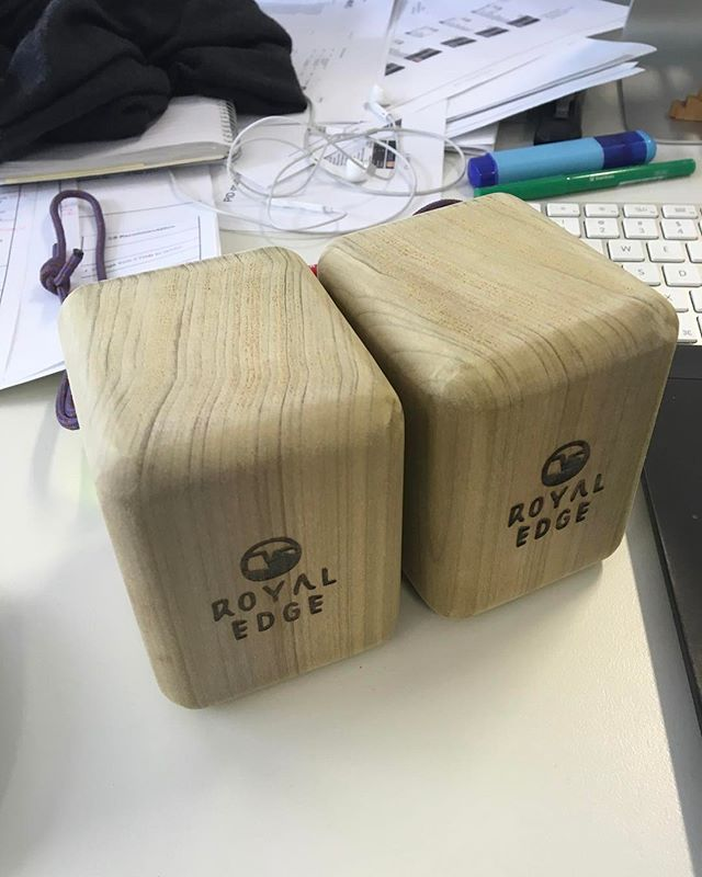 First shipment to the land down under! Thanks Matt!  #Australia #pinchblocks #rockclimbing #climbing #climb #boulder #bouldering #hangboard #hangboards #royaledge #padauk #poplar #zebrawood #purpleheart #sapele #oak