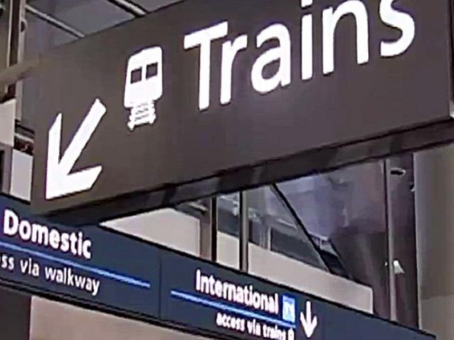 Sydney airport transit trains
