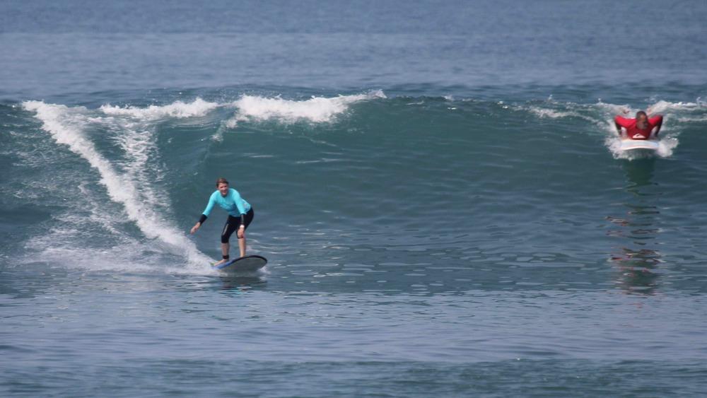 The beach break session of the week at KuDeTa Bali