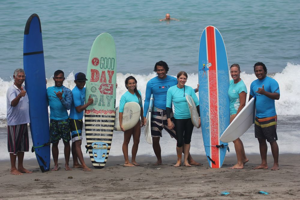 Surfing Bali with a fabulous group of women