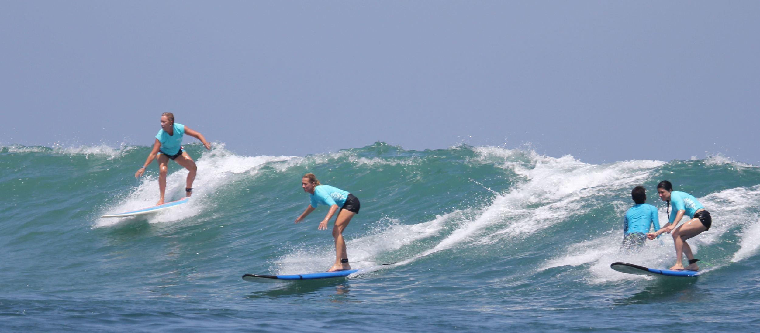 Party wave on Kuta Reef