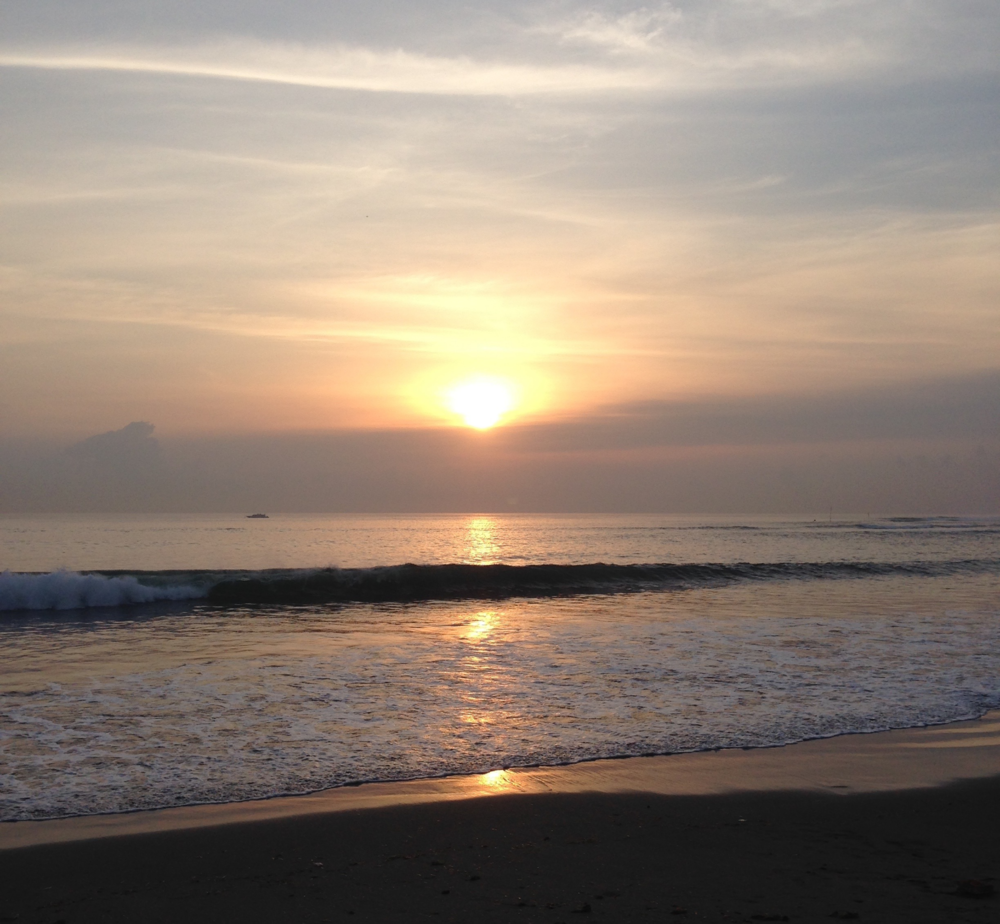 sunrise over Sanur