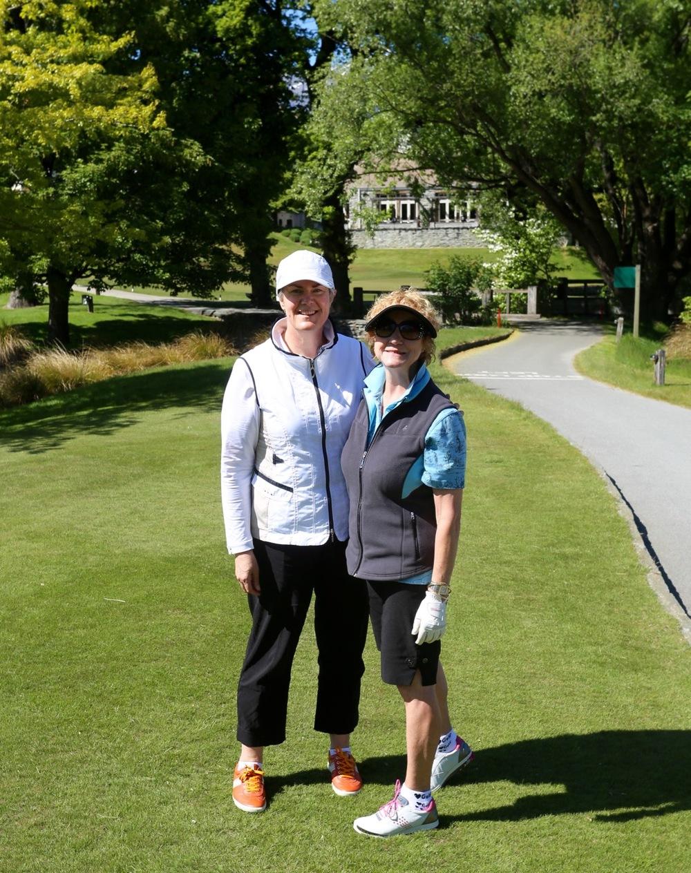 Rhonda norman (left) and PJ Hennessey at millbrook nov 2015