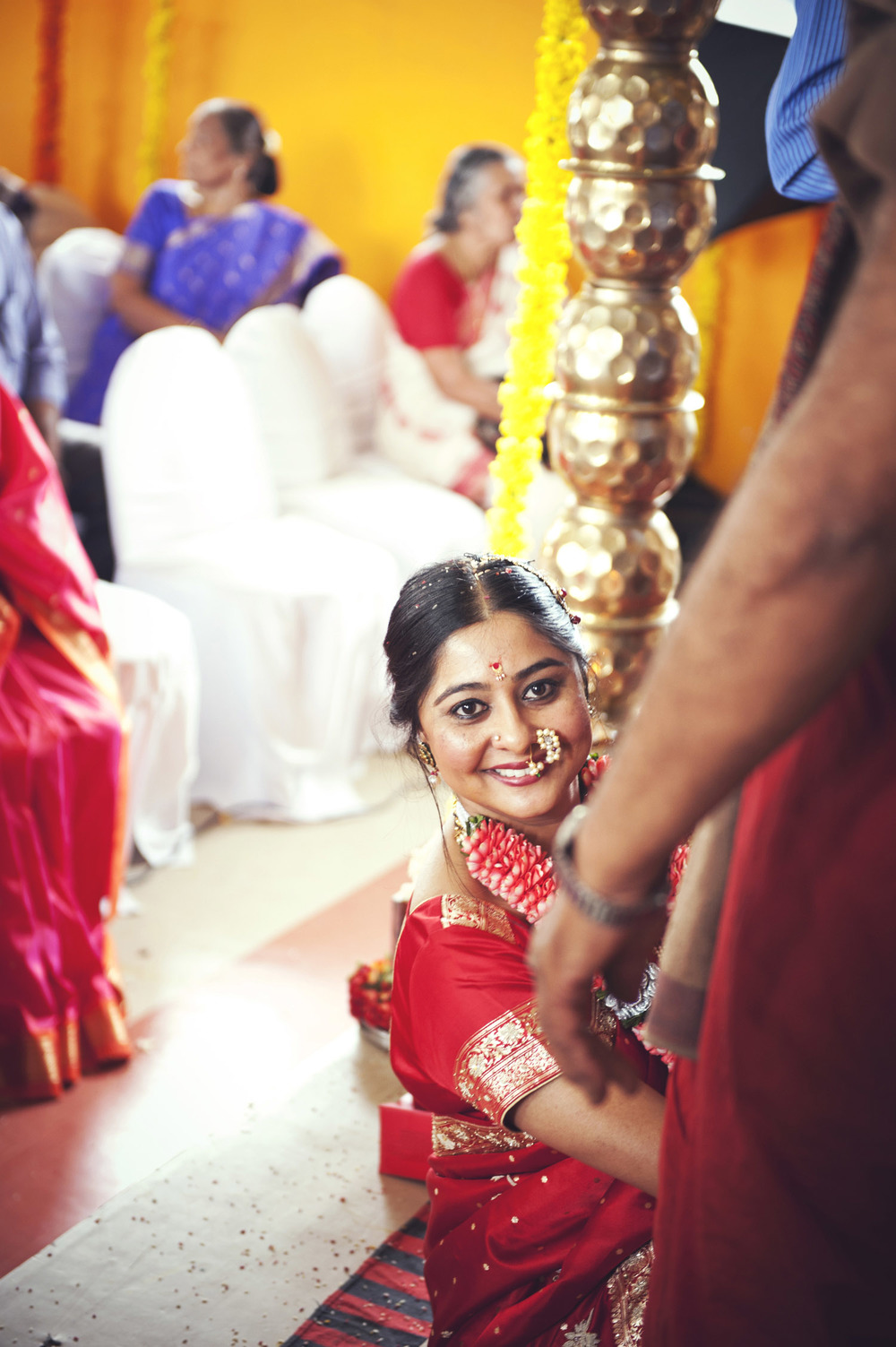 smiling indian bride