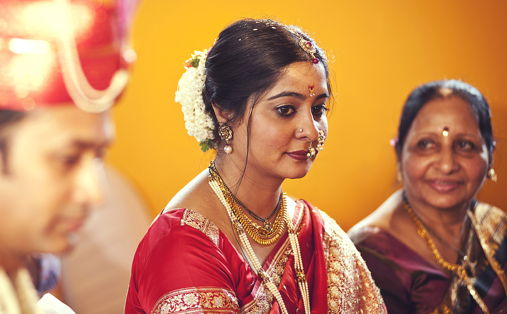 Indian bride red sari