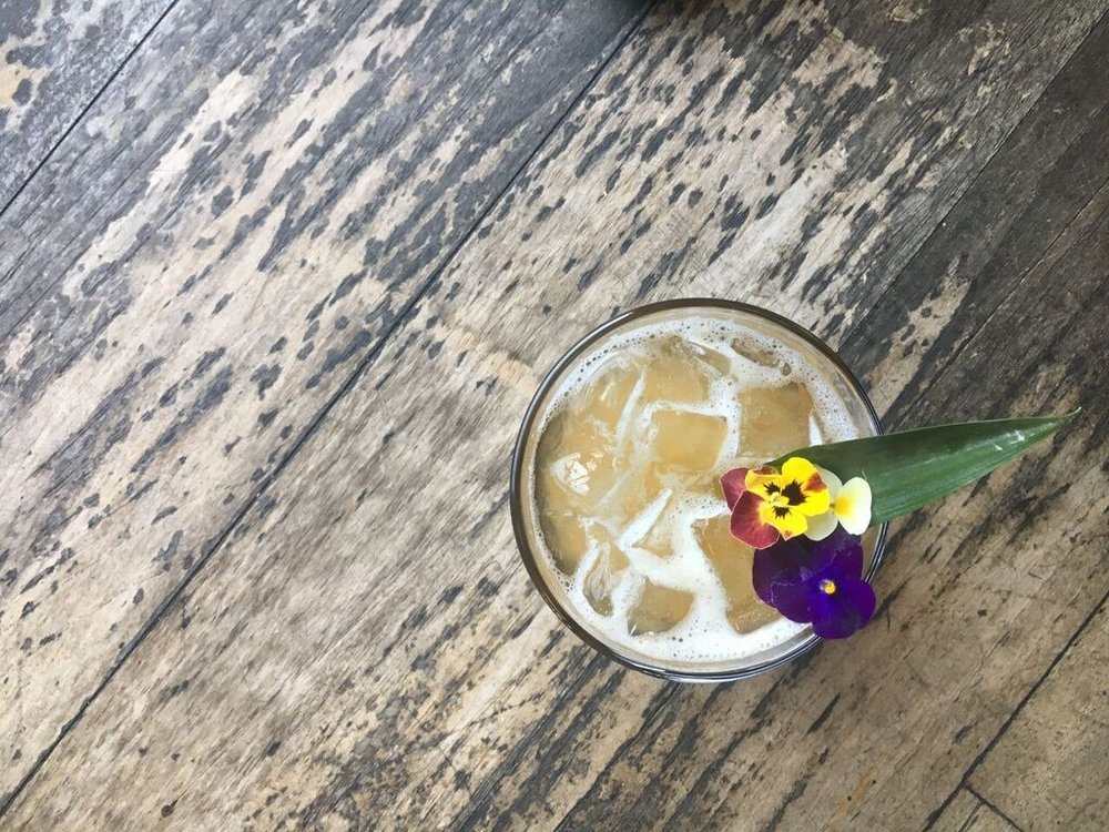 Pasion Brava is our version of a fall tiki drink. Made with maracuya (passion fruit), pineapple, cinnamon, Tiki bitters, Appleton's 12, a hand-selected blend of rare, aged golden rums, and Cana Brava, a clean and fresh 3-year-aged and filtered light rum with hints of oak, honey, coconut and molasses.