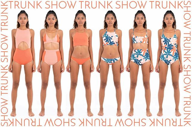 XX Melbourne people! This Sunday is your opportunity to come and try on SB garments including our swim and activewear! XX The trunk show will take place at @novotelstkilda from 1-4pm XX You will also receive a special discount code to purchase things after your try-on session XX There will be a bunch of labels (tagged in this pic) so COME!! XX