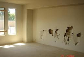 Drywall can be easily damaged, but not so easily fixed .